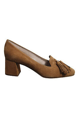 MASCARO Cindy Brown Suede Almond Toe Court Shoes (37) • 59.99£