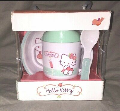 Hello Kitty Cup Spoon Bowl Gift Set • 14.99£