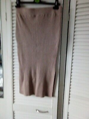 Primark Camel Knitted Skirt New With Tags Size M 12-14 • 10£