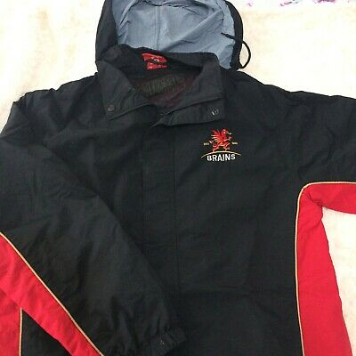 Brains Wales Rugby Union Supporters Jacket Large Size • 15£
