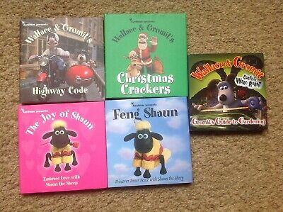 Wallace And Gromit, Shaun The Sheep Small Books X5 Excellent Condition • 2.30£