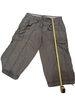 Ladies M&s, Khaki Cropped Summer Trousers/ Long Shorts-size,12 • 1.10£
