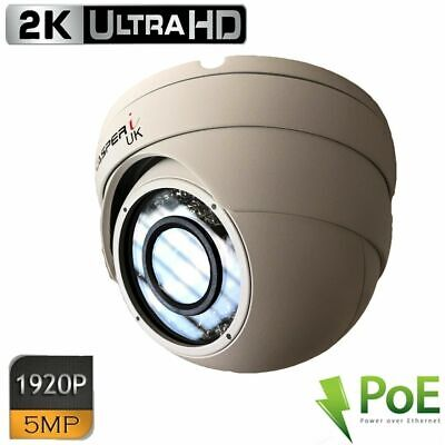 5MP HD Wired POE IP Camera Waterpro0f Outdoor IR Speed Dome LED CCTV Security UK • 50.50£