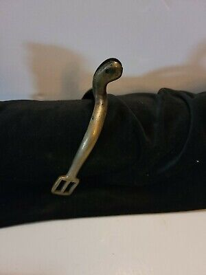 $69 • Buy Brass Military Spur L RIA  Stamped. No Rowel.