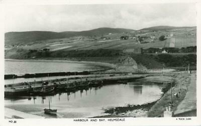Real Photo Postcard Of The Harbour And Bay, Helmsdale, Sutherland, Scotland Tuck • 8£