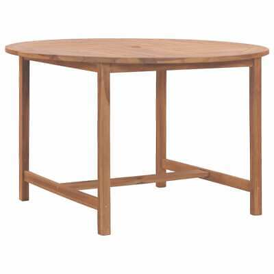 VidaXL Solid Teak Wood Garden Table 120cm Kitchen Dining Room Picnic Table • 138.99£