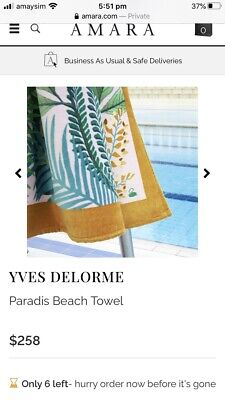 AU189 • Buy 2 Yves Delorme King Size Beach 🏝 Towels Pair Of Two RRP $258 USD Each