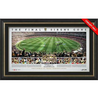 AU495 • Buy Richmond Tigers 2017 Premiers Trent Cotchin Signed Framed Final Siren Panoramic