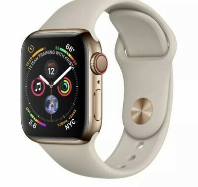 $ CDN416.26 • Buy Apple Watch Series 4 44 Mm Gold Stainless Steel /Stone Sport Band (GPS&cellular)