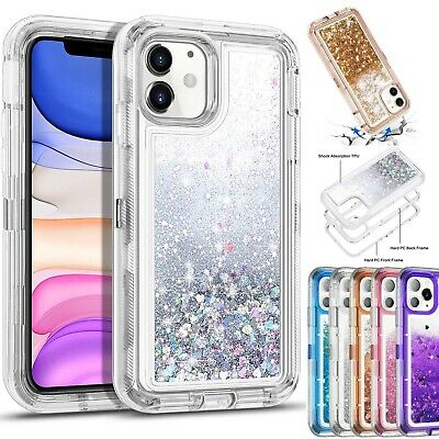 AU17.58 • Buy For IPhone 12 11 Pro XS Max XR X 8 Girl Bling Glitter Liquid Sand Quicksand Case