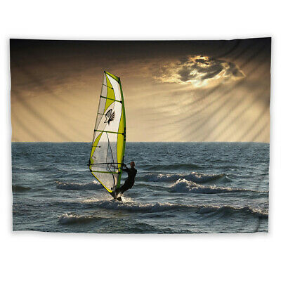 Outdoor Sports Surfing  Tapestry Wall Hanging Mandala Bedspread Indian Decor A • 9.99£