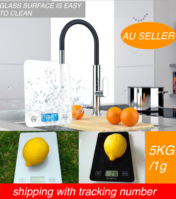 AU11.85 • Buy 5kg Kitchen Scales Electronic Portable Digital LCD Balance Weight Food Cook AU