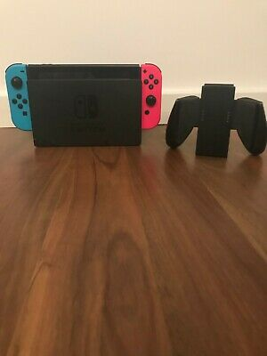 AU187.50 • Buy Nintendo Switch Neon Blue And Pink Joy‑con 2019 Model 32 Gigabytes.