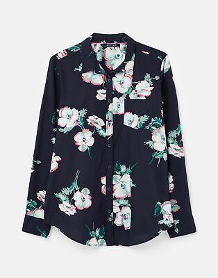 Joules Womens 211382 Printed Woven Shirt - Navy Poppy • 12.95£