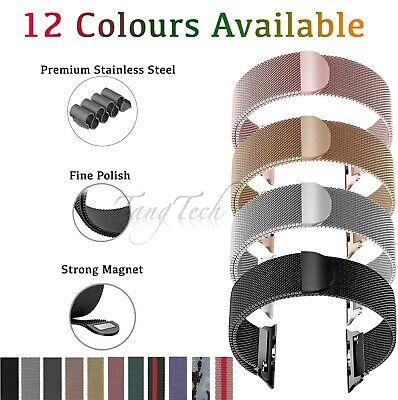 $ CDN9.40 • Buy For Apple Watch Series 6,5,4,3,2,1 Milanese Magnetic Stainless Steel IWatch Band