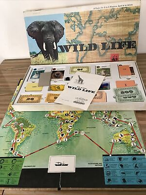Vintage Spears Wild Life Board Game - World Wildlife Fund 1973 Believe Complete • 24.99£