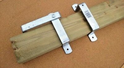 £19.95 • Buy Slip Rail Brackets Wooden Gate Fencing Fence Gate Fittings Farm Small Holding
