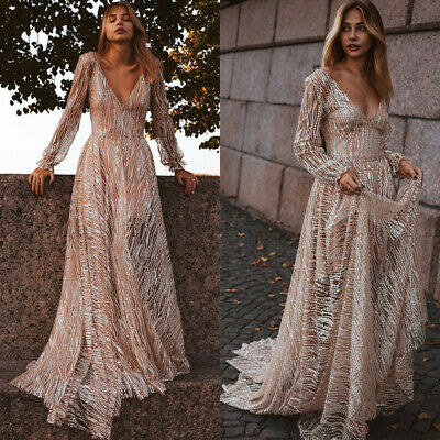 Women Luxury Maxi Dress Evening Party Cocktail Summer Holiday Ball Prom Sundress • 29.89£