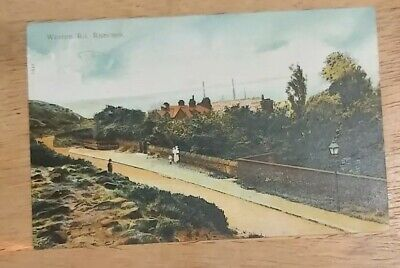 Runcorn, Cheshire. Weston Road Colour Postcard. Posted To Liverpool In 1906. • 0.99£