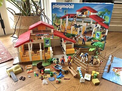 Playmobil 4190 PONY FARM Horse Riding Stables Ranch Equestrian Centre BOXED VGC • 22£