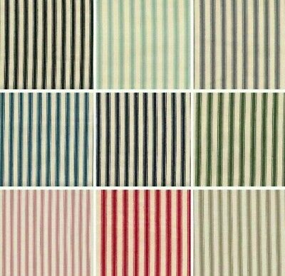 $13.79 • Buy 8mm Ticking Stripes 100% Cotton Canvas Fabric Craft Sewing