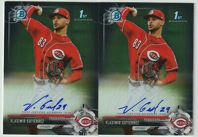 $ CDN1.31 • Buy Vladimir Gutierrez 2017 Bowman Chrome 1st Bowman Prospect Auto - Lot Of 2