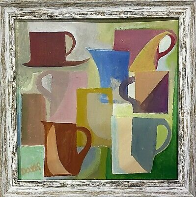 British Abstract Avant Garde St Ives School, Signed Dodds • 25£