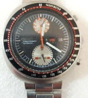 $ CDN679 • Buy SEIKO UFO Automatic Chronograph 6138-0017 Day Date Watch. Runs.