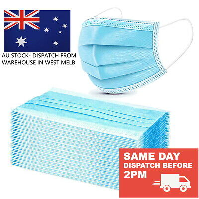 AU39.95 • Buy 3 Layer Disposable Surgical Grade Face Mask (MELB STOCK)