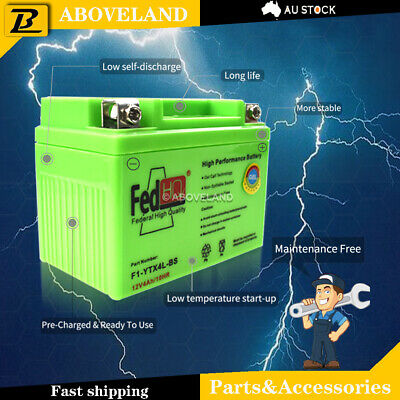 AU25.49 • Buy YTX4L-BS GEL BATTERY 12V FIT Scooter Snapper Ride Small ATV Quad Bikes