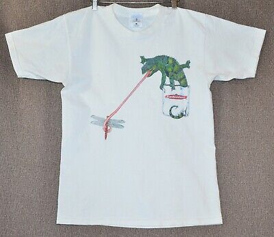 $ CDN37.96 • Buy Vintage 1997 Budweiser T-Shirt Chameleons And Frogs With Sunglasses Size L