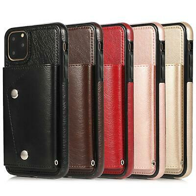 AU16.99 • Buy For IPhone 12 11 Pro Max XR XS 8 7 SE Case Shockproof Leather Card Holder Wallet