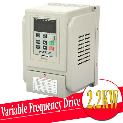 2.2kW 12A Single-Phase/3-Phase AC220V Variable Frequency Drive Inverter VSD VFD • 67.99£