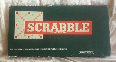 Vintage Scrabble Board Game Spears Games 1970's Collectable • 0.99£