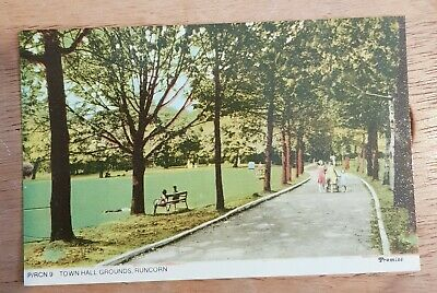 Runcorn, Cheshire. Town Hall Grounds. Colour Postcard. • 0.99£