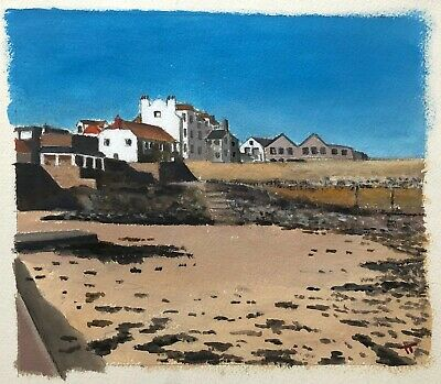 TIM TREAGUST Original Contemporary Painting Behind The Pier St Ives Cornwall • 70£