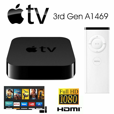 AU100 • Buy Apple TV 3rd Gen A1469 Digital HD ICloud Air Video Media Streamer Music Player