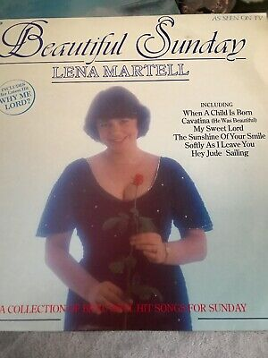 LENA MARTELL - Beautiful Sunday -  LP Record Ronco RTL 2052 • 4£