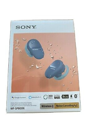 SONY WF-SP800N Wireless Bluetooth Noise Cancelling Earphones - Blue Never Opened • 75£