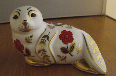 ROYAL CROWN DERBY PAPERWEIGHT - SEAL No Stopper • 8£