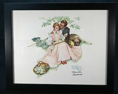 $ CDN636.67 • Buy NORMAN ROCKWELL - Four Ages Of Love  Courting Couple  - Hand Signed - COA