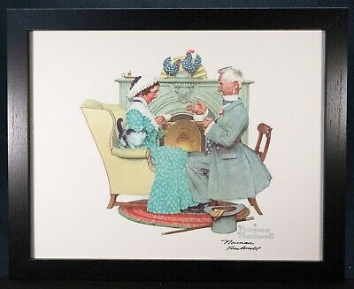 $ CDN569.65 • Buy NORMAN ROCKWELL - Four Ages Of Love  Tea Time  - Hand Signed - COA