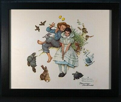 $ CDN636.67 • Buy NORMAN ROCKWELL - Four Ages Of Love  Flute Serenade  - Hand Signed - COA