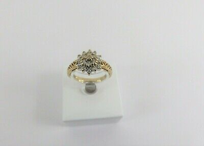 AU246.51 • Buy  9ct Gold Diamond Cluster Ring Hallmarked 0.33ct Size O With Gift Box