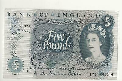 Five Pounds £5 Note Jasper Hollom B72 • 10£