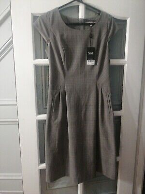 Ladies Beautiful Next Tailored Checked Dress And Jacket Set Size 10 Bnwt Rrp £85 • 22£