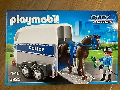 Playmobil 6922 City Action Police With Horse Trailer - Complete Set - Good Condi • 5.30£