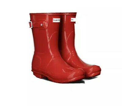Red Hunter Wellies, Size 5, Short • 27£