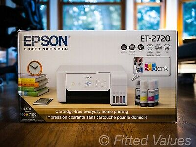 View Details Epson EcoTank ET-2720 All-In-One Supertank Color Printer (White) - NEW SHIPS NOW • 263.88$