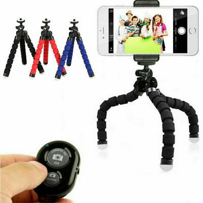 Universal Mobile Phone Holder Tripod Stand For IPhone Camera Samsung With Remote • 6.89£